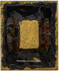 Untitled (gold bible) by Derek Jarman contemporary artwork painting