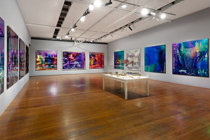 Exhibition view: Dale Frank, Roslyn Oxley9 Gallery, Sydney (13 June - 6 July 2019). Courtesy Roslyn Oxley9 Gallery. Photo: Luis Power.