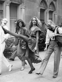 Jerry Hall, New York City by Bill Cunningham contemporary artwork sculpture, photography