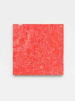 Wandert rot zu rosa / Turns red to pink by Gregor Hildebrandt contemporary artwork
