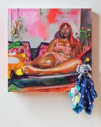 Altar to My First Descendant by Gisela McDaniel contemporary artwork painting, works on paper