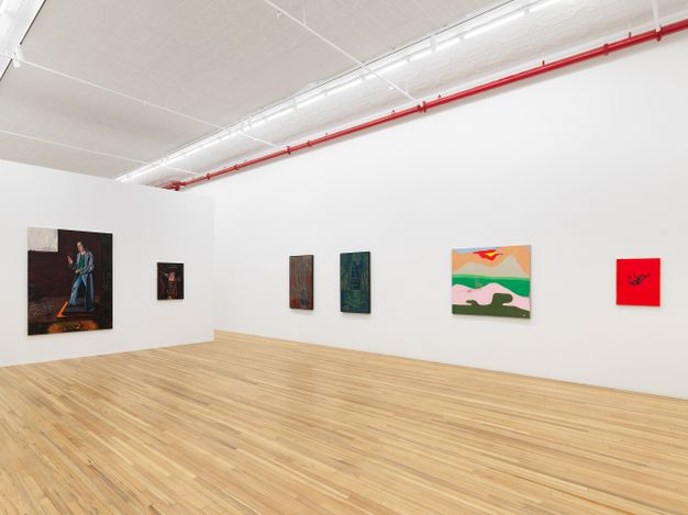Exhibition view: Group Exhibition,Fifteen Painters, Andrew Kreps Gallery, New York (2 April–8 May 2021). Courtesy Andrew Kreps Gallery. Courtesy Andrew Kreps Gallery, New York. Photo: Dan Bradica.