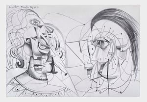 Linear Contact by George Condo contemporary artwork