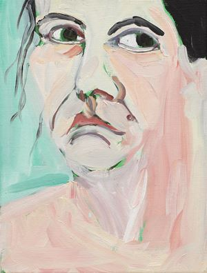 Self-Portrait I, October by Chantal Joffe contemporary artwork