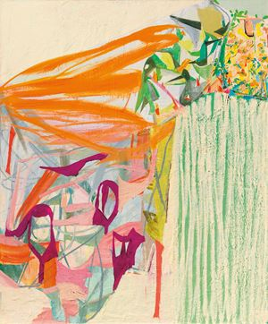 Cliff 1 by Amy Sillman contemporary artwork