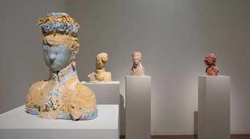 Contemporary art exhibition, Linda Marrinon, Plaster Busts at Roslyn Oxley9 Gallery, Sydney
