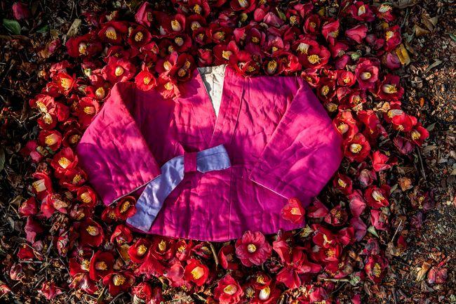 Kang Eun-taik, Father's 100-year-old traditional jacket by Ko Hyunjoo contemporary artwork