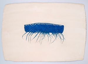 Blue Coconut Palm Leaf by Desmond Lazaro contemporary artwork
