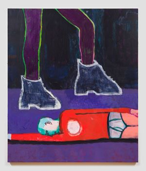 Big Boots by Katherine Bradford contemporary artwork