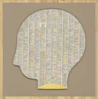 Dictionary–Human 4 by Jam Wu contemporary artwork painting, works on paper