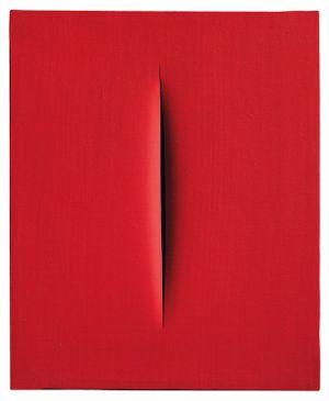 Spatial Concept, Waiting by Lucio Fontana contemporary artwork