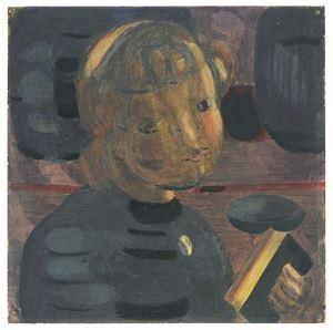 Studie zu 'Vorbereitung' by Otto Meyer-Amden contemporary artwork