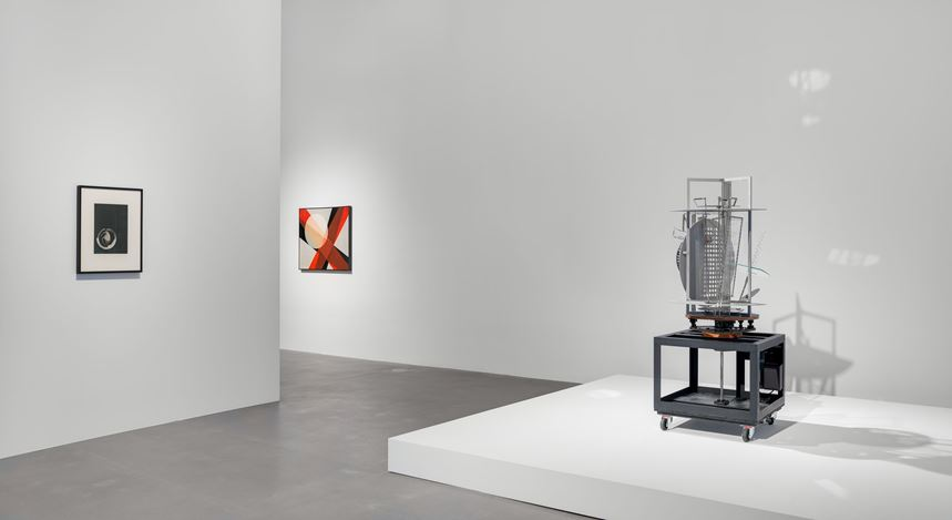 Exhibition view: László Moholy-Nagy, Hauser & Wirth, London (22 May–7 September 2019). © the Estate of László Moholy-Nagy / Artists Rights Society (ARS), New York / VG Bild-Kunst, Bonn. Courtesy the Estate of László Moholy-Nagy.Photo: Alex Delfanne.
