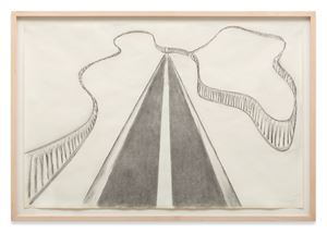 Road with Fence by Richard Artschwager contemporary artwork