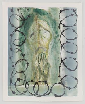 Boring Flames (teal) by Sanya Kantarovsky contemporary artwork