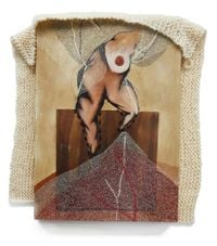 A lipstick snake got in the system by Radhika Khimji contemporary artwork mixed media