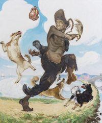 Ji Gong by Wang Xingwei contemporary artwork painting