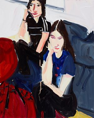 Carlotta and Esme by Chantal Joffe contemporary artwork