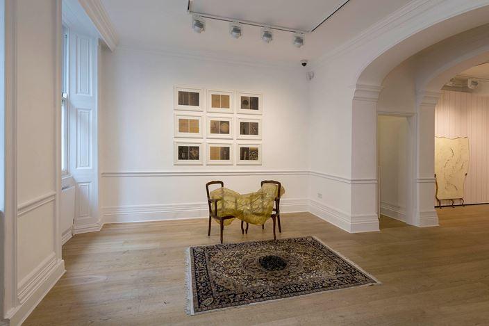 Exhibition view: Group Exhibition,Feminism in Italian Contemporary Art, Richard Saltoun Gallery, London (2 October–9 November 2019). Courtesy Richard Saltoun Gallery.