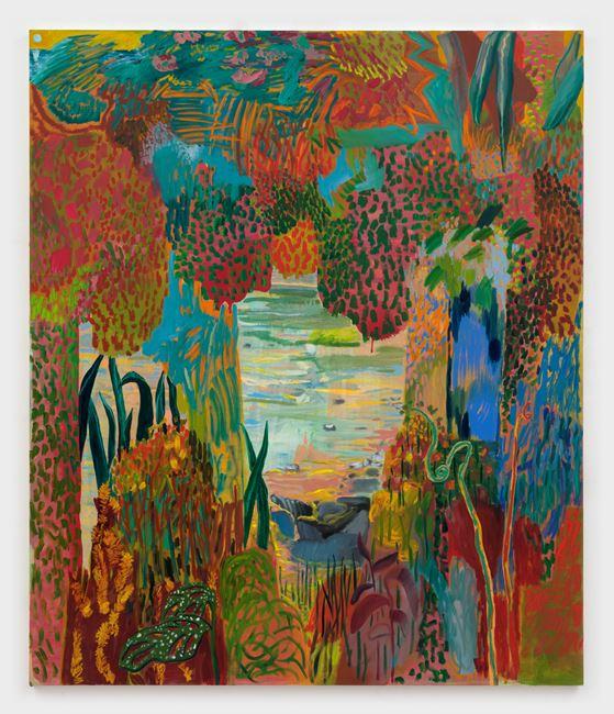 My Fenced Energy by Shara Hughes contemporary artwork