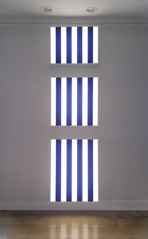 Three Light Boxes for One Wall by Daniel Buren contemporary artwork