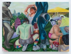 Mademoiselles of Gay Beach (San Francisco Pride 2018) by Brea Weinreb contemporary artwork painting