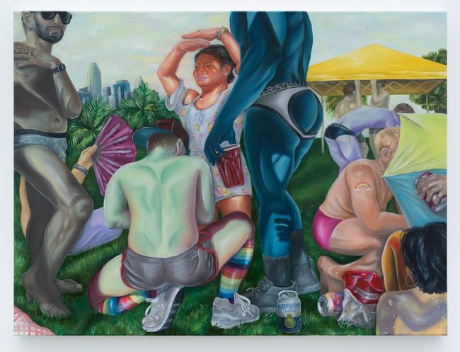 Mademoiselles of Gay Beach (San Francisco Pride 2018) by Brea Weinreb contemporary artwork