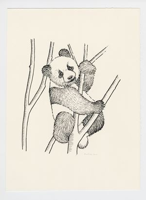 Panda Cub by Sean Landers contemporary artwork