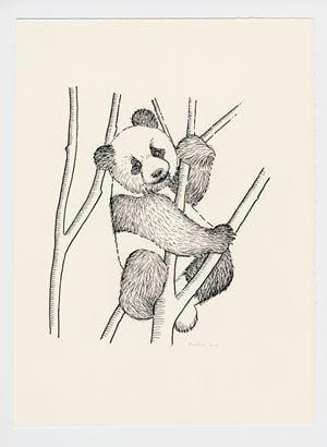 Panda Cub by Sean Landers contemporary artwork