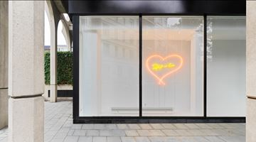 Contemporary art exhibition, Tracey Emin, Detail of Love at 44 rue Van Eyck & 107 rue St-Georges, Brussels