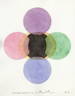 Seven Circles in Seven Colours the Little Fat Flesh Center all Seven Colours 《彩虹七圓中心含七色》 by Inga Svala Thórsdóttir & Wu Shanzhuan contemporary artwork painting, works on paper, drawing