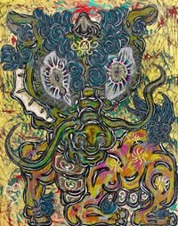 Blessings from Kirin by Miwa KOMATSU contemporary artwork painting