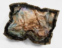 Crumpled Clipper Ship by Valerie Hegarty contemporary artwork sculpture