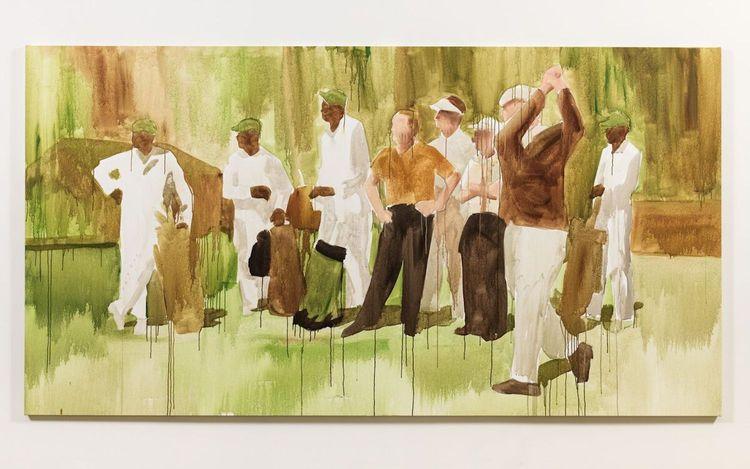 Henry Taylor, Untitled (2018). Acrylic on canvas. 167.6 x 317.5 x 3.8 cm.© Henry Taylor. Courtesy Hauser & Wirth. Photo: Ken Adlard.