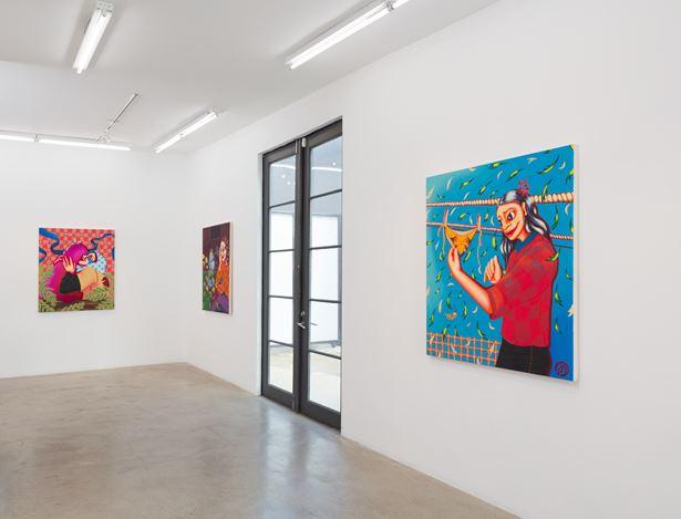 Exhibition view: Zoé Blue M., Phantasmal, AE2, Los Angeles (22 February–28 March 2020). Courtesy Anat Ebgi.