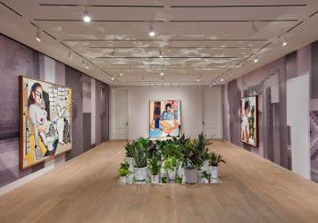 Exhibition view: Mickalene Thomas, Beyond the Pleasure Principle, Lévy Gorvy, New York (2021). Courtesy Lévy Gorvy. Photo: Tom Powel.