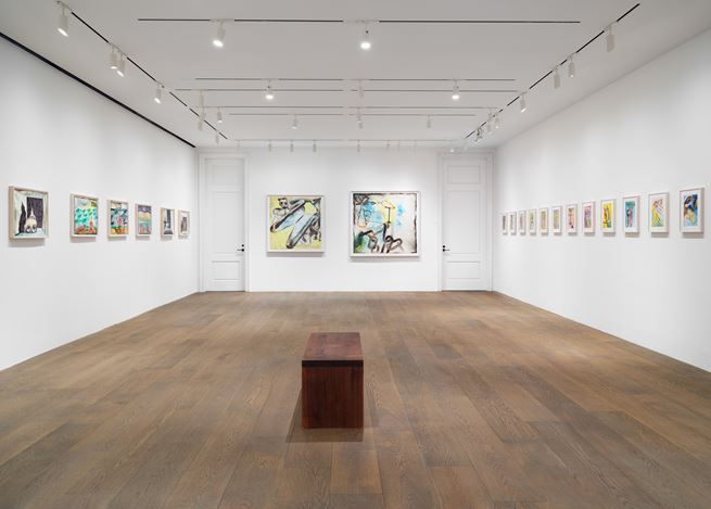 Exhibition view: Francesco Clemente, Watercolors, Lévy Gorvy, New York (17 August–1 October 2020). Courtesy Lévy Gorvy.