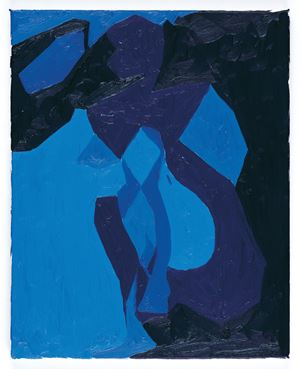 Nude Study in Blue by Chris Ofili contemporary artwork