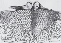 Medusa Fleece for Twins by Sofia Mitsola contemporary artwork works on paper