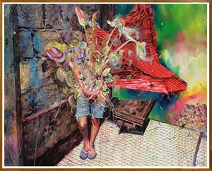 Threat Bouquet by Ronson Culibrina contemporary artwork painting, mixed media