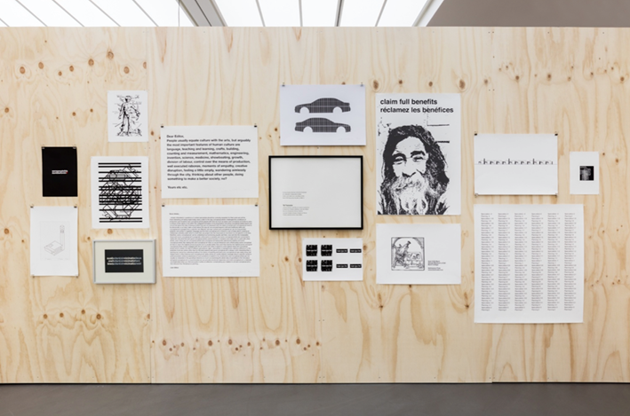 Exhibition view: Liam Gillick, Were People This Dumb Before TV? A Curated Selection from the Graphic Archive 1990–2017, Esther Schipper, Berlin (2 July–12 August 2017). Courtesy Esther Schipper. Photo: © Andrea Rossetti.