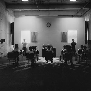 A Class Ponders the Future by Carrie Mae Weems contemporary artwork
