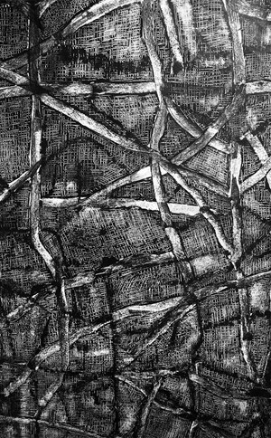 Drawing into Paintings Muscular History: Weaving#1 by Annemarie Murland contemporary artwork