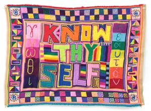 Untitled (Know Thyself) by Paul Yore contemporary artwork