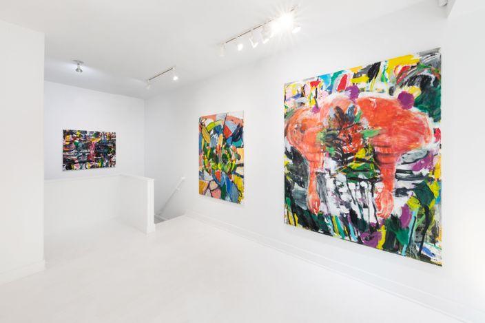 Exhibition view: Misheck Masamvu, Carnivorous Words, Goodman Gallery, East Hampton (7–18 July 2021). Courtesy Goodman Gallery.
