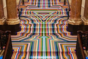 Zobop Colour Stairs by Jim Lambie contemporary artwork