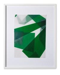 Faltungen Grün by Beat Zoderer contemporary artwork mixed media