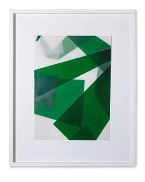 Faltungen Grün by Beat Zoderer contemporary artwork