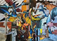 Flying Objects by Rodel Tapaya contemporary artwork painting
