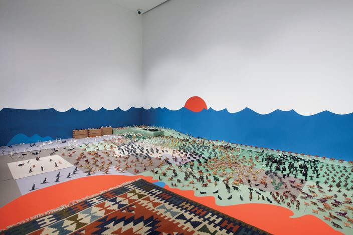 Exhibition view: Alighiero Boetti, Alighiero Boetti. The Fantastic World, Dep Art Gallery, Milan (28 February–26 May 2018). Courtesy Dep Art Gallery.